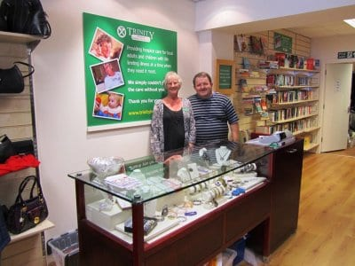 Volunteers at Trinity Hospice shop Cleveleys