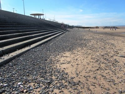 Improved levels of shingle on Cleveleys beach
