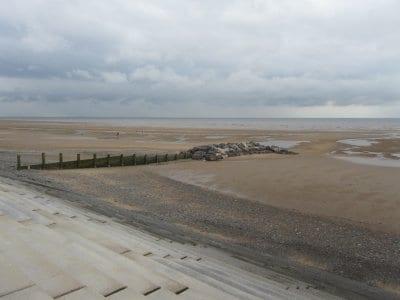 Extended groyne on Cleveleys beach