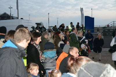 Cleveleys Christmas Switch On, Light Up a Life event