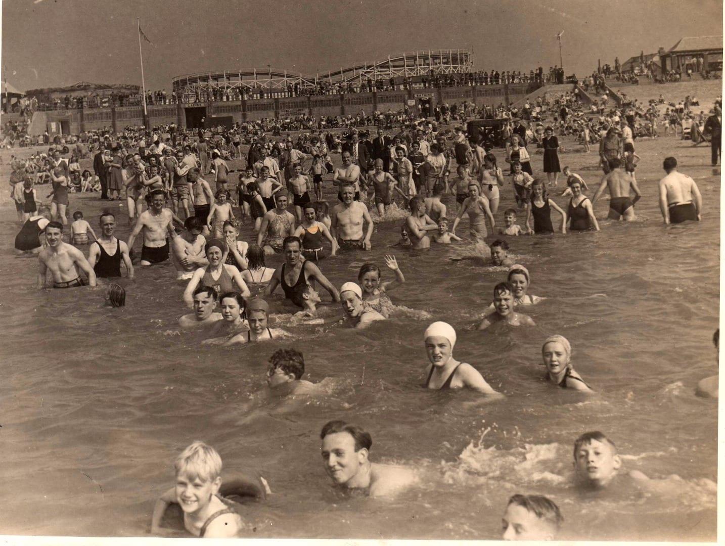 Bathing Station on Cleveleys beach