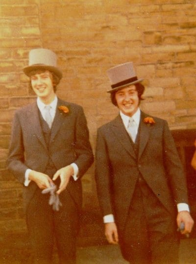 Bill Greenham, Best Man, and me on my wedding day in 1970