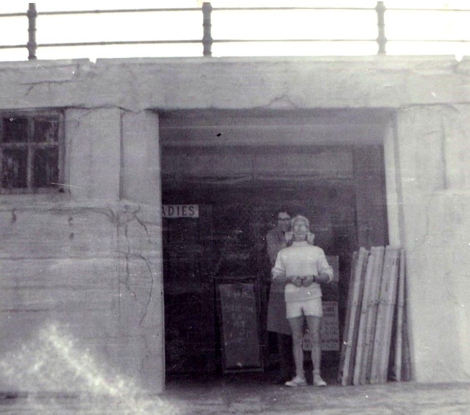 Billy Mills, beach patrolman at the bathing station on Cleveleys beach