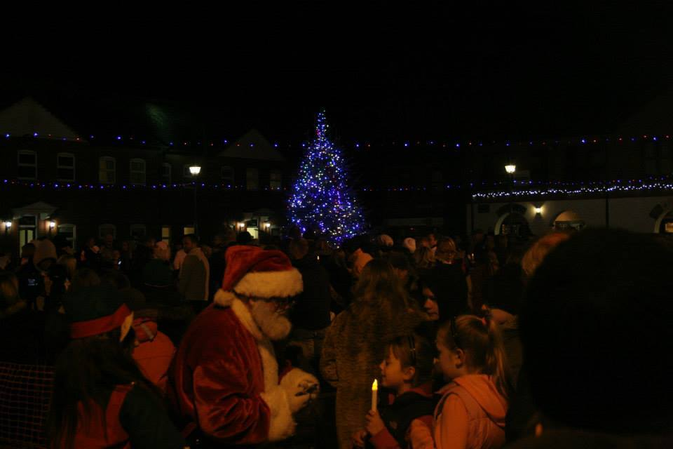 Marsh Mill Christmas Lights Switch On