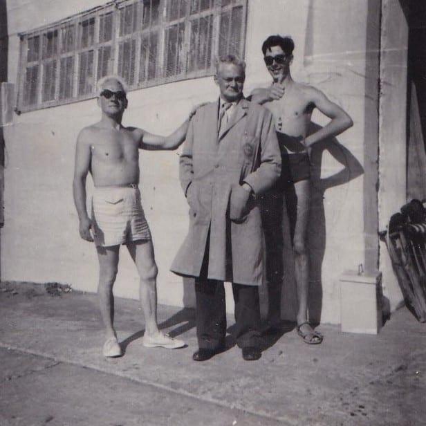 Bathing Station on Cleveleys beach around 1960