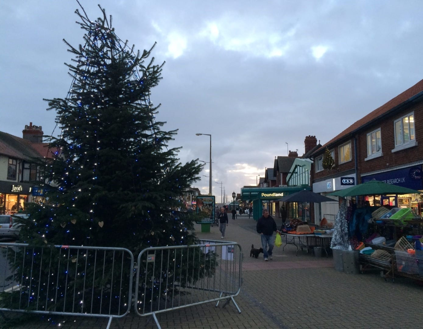 Christmas tree in Cleveleys