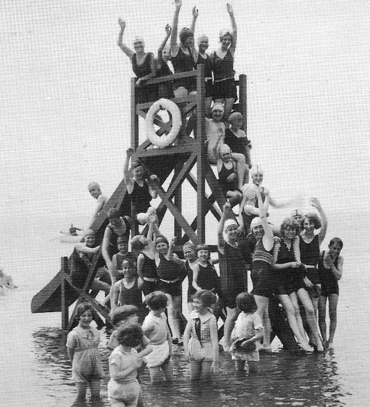 Beach Slide in the 1930's at the site of the Bathing Station on Cleveleys beach