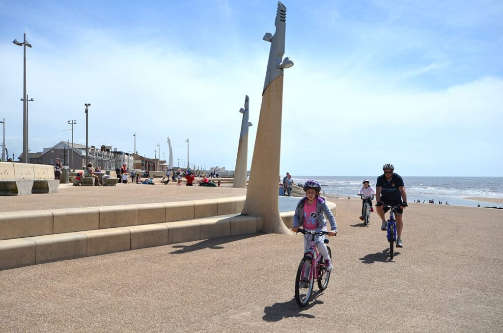 Cycling on Cleveleys promenade