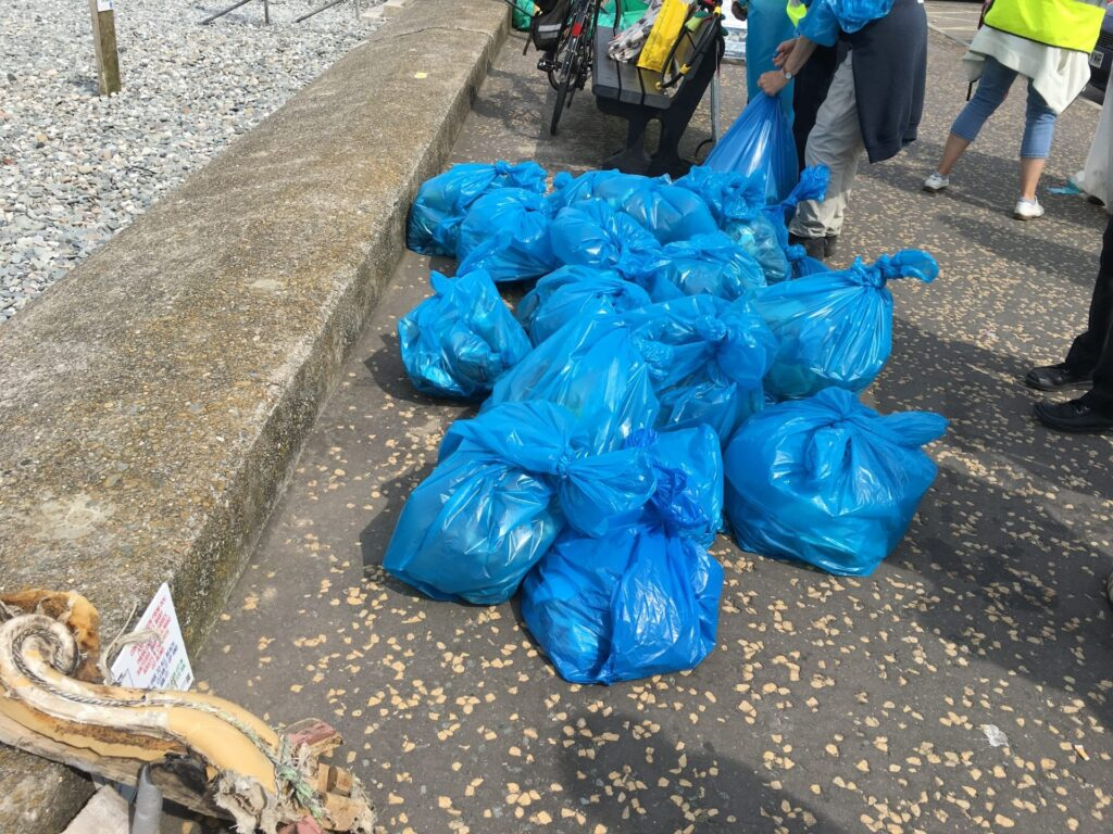 Rubbish collected at the annual MCS beach clean at Cleveleys
