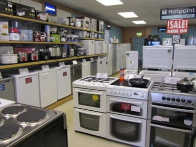 White goods at Mike Sanderson Electricals Fleetwood