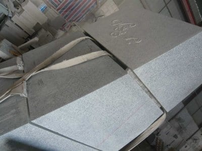 Plinth stones being carved for base of the Sea Swallow sculpture