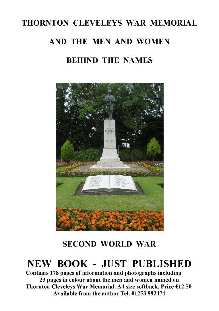 Thornton Cleveleys War Memorial Book, Second World War, Eric Curbishley