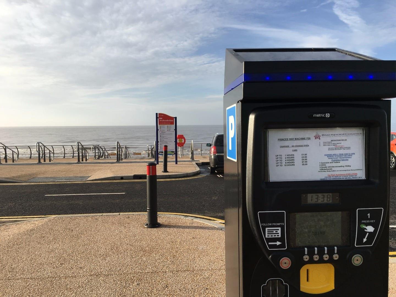 Parking meters on Princes Way Blackpool