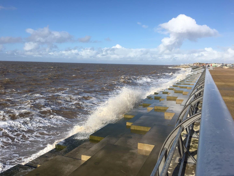 New sea defences at Anchorsholme, north Blackpool