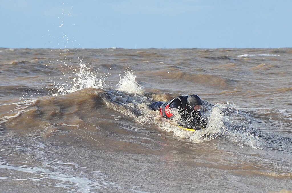 Bodyboarding at Cleveleys