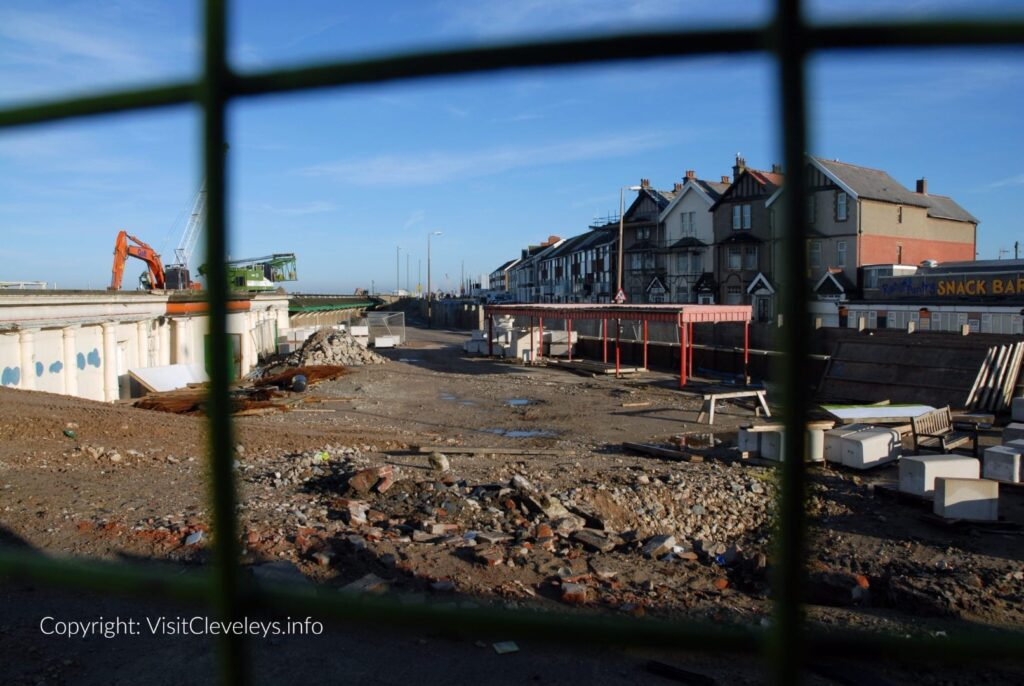 Building Cleveleys sea defences in 2007. This is the plaza area, opposite Victoria Road West