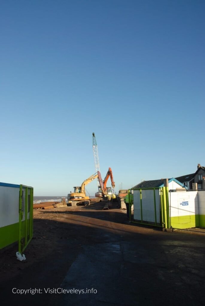 Cleveleys sea wall build 2007