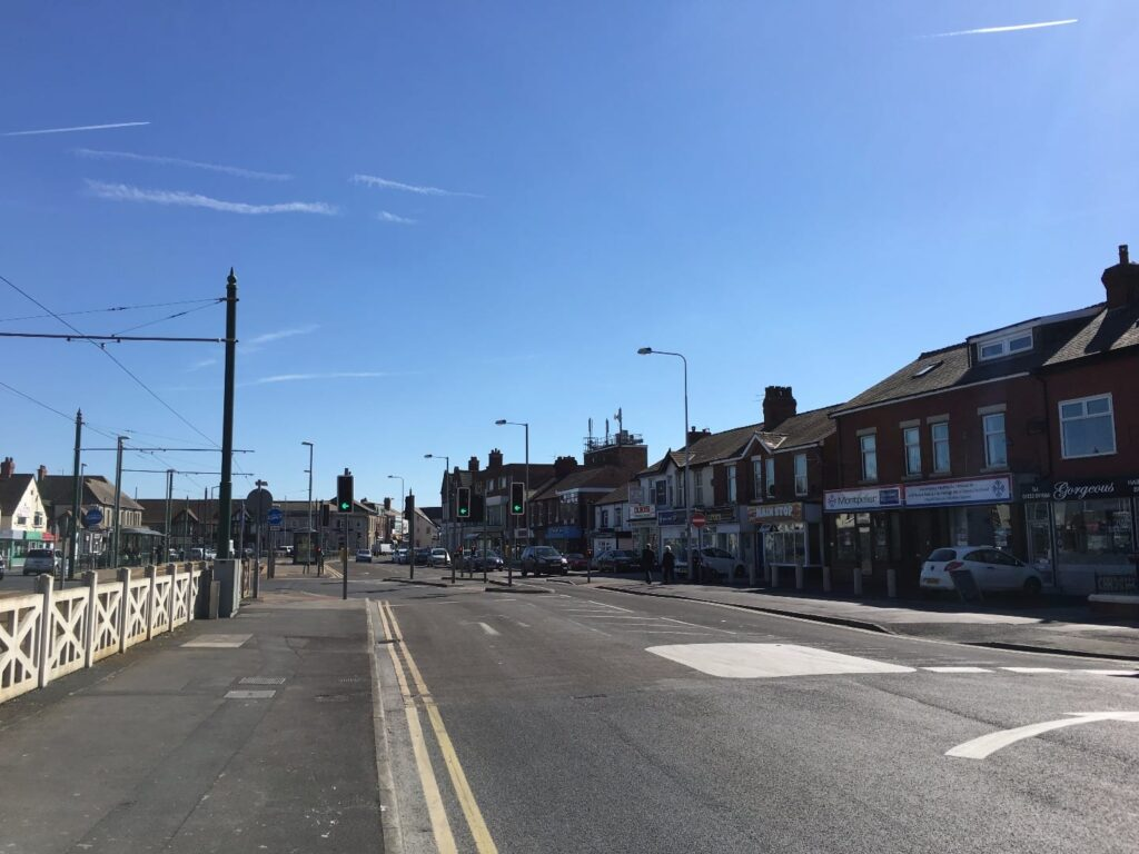 Rossall Road in Cleveleys town centre