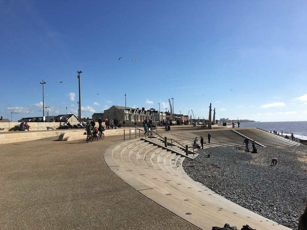 Cleveleys beach and seafront