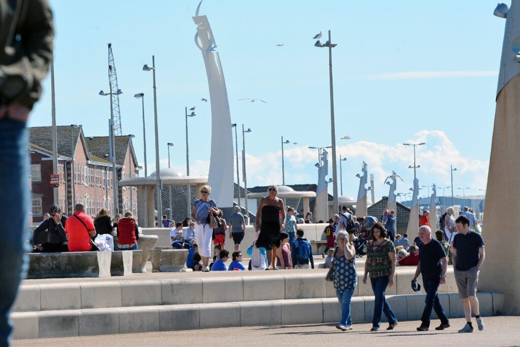 Cleveleys promenade in summer - take a walk when you've visited the town centre