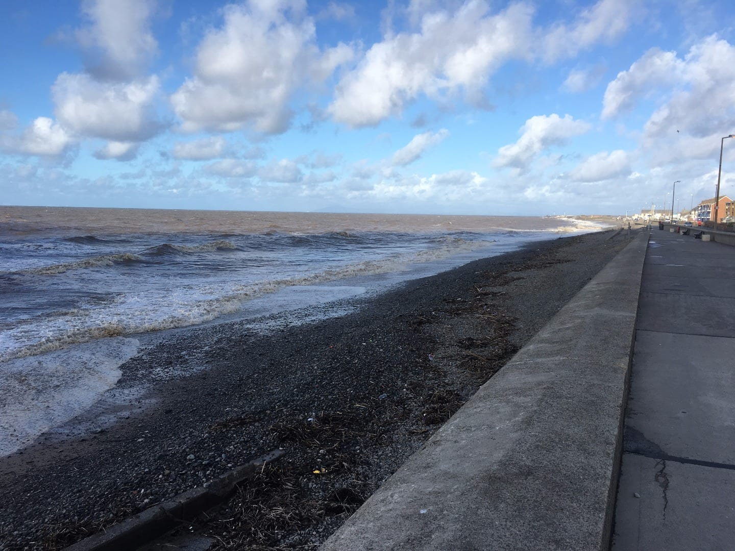 Rossall Beach, at the north of Cleveleys seafront