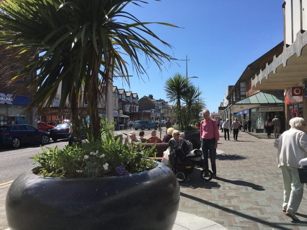 Sit for a chat in Cleveleys town centre