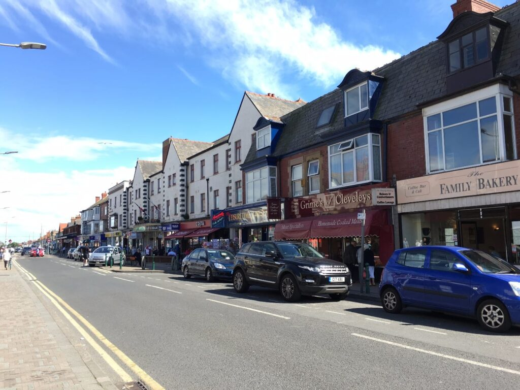 Independent retailers on Victoria Road West, Cleveleys