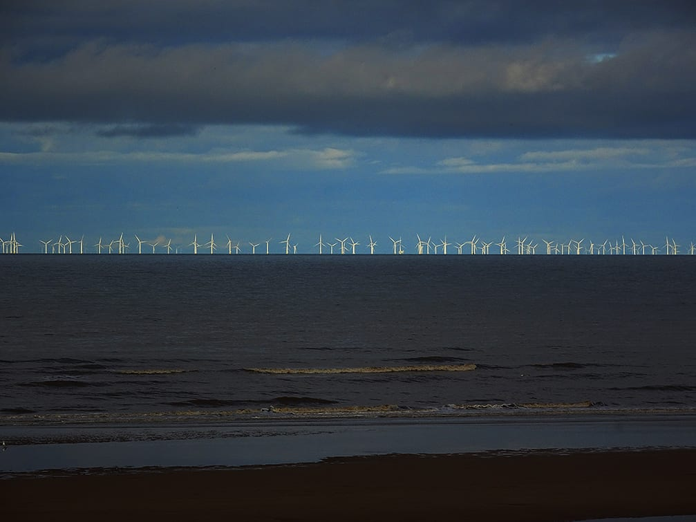 View of the offshore windfarms from Cleveleys