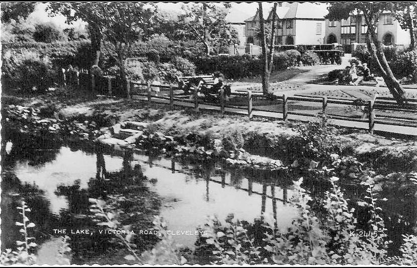 Duck Pond on Victoria Road West, from Thornton Cleveleys Past
