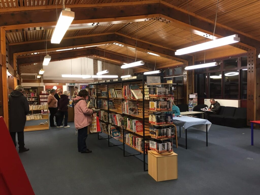 Inside Cleveleys Library before it closed in 2016