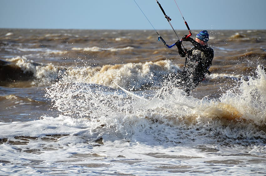 Kitesurfing - one of the popular beach and watersports at Cleveleys