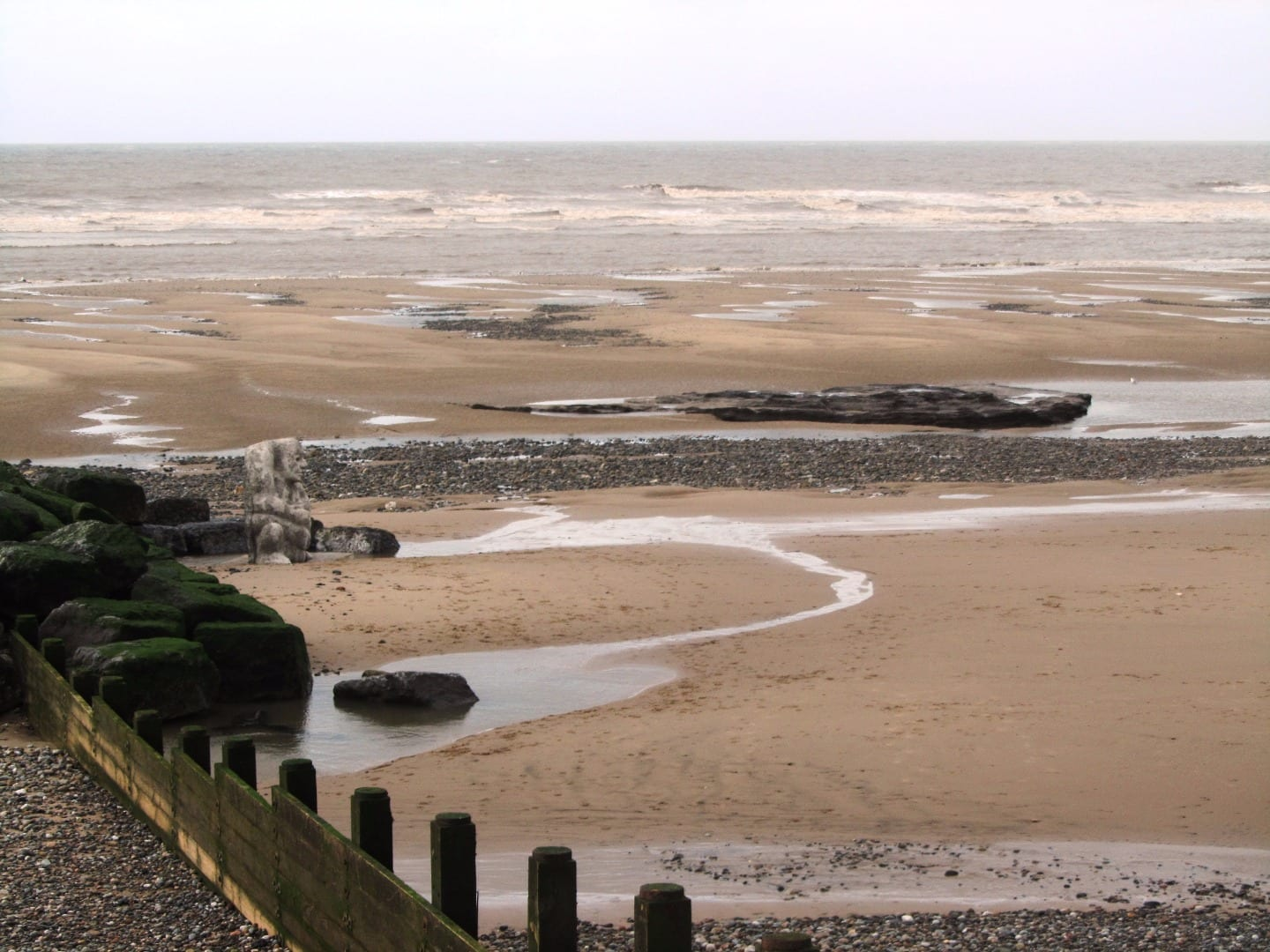 Location of the Stone Ogre on Cleveleys beach