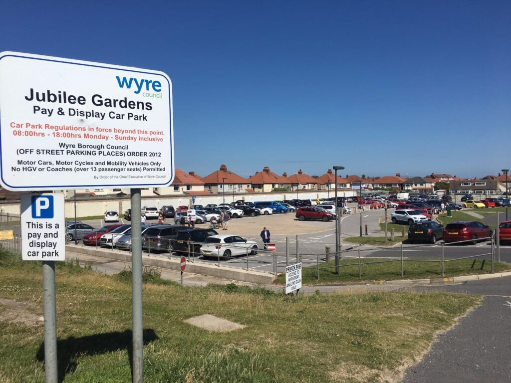 Long stay car park at Jubilee Gardens Cleveleys