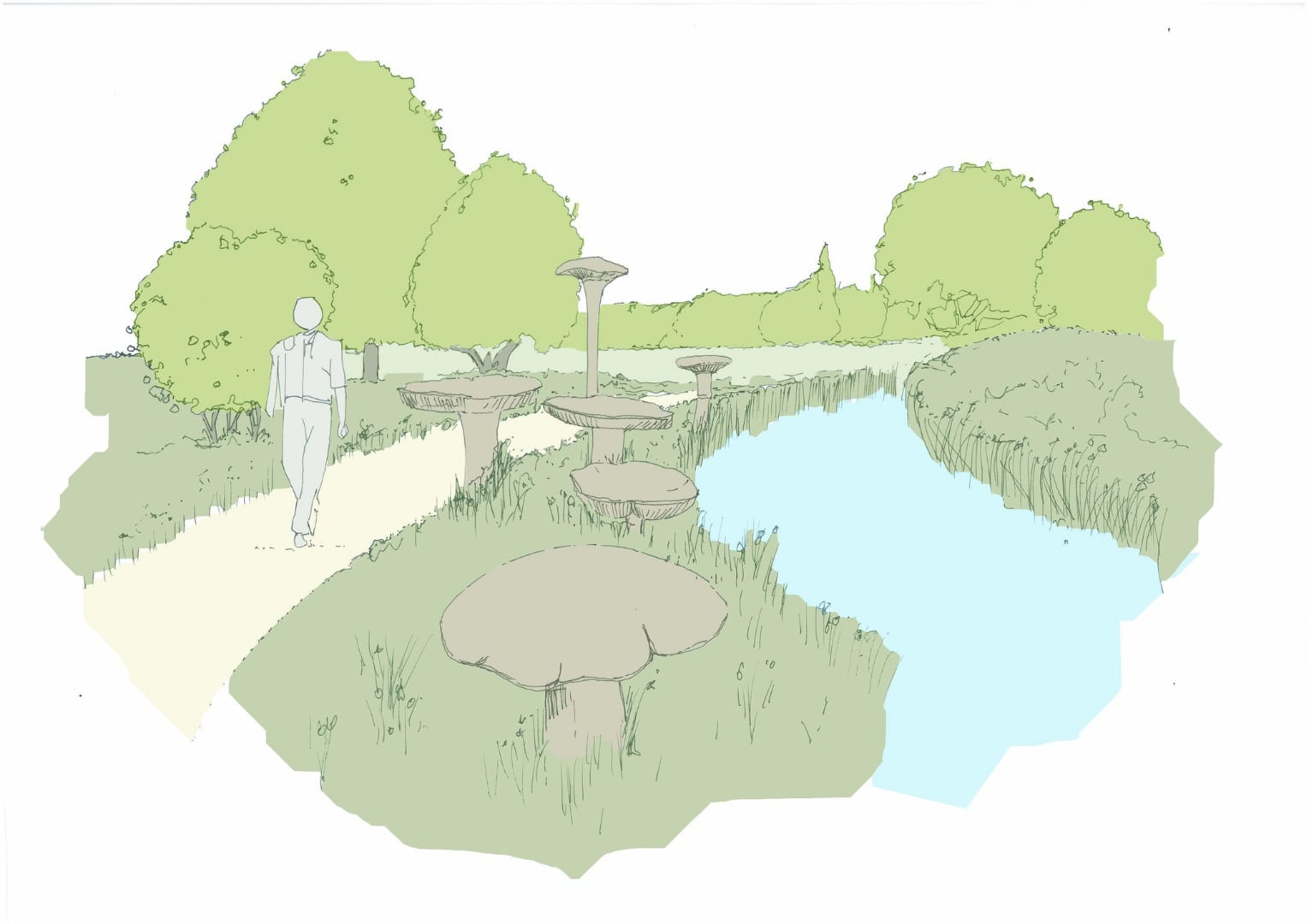 Proposal for Brook Sculpture Walk at King George's Playing Fields Thornton