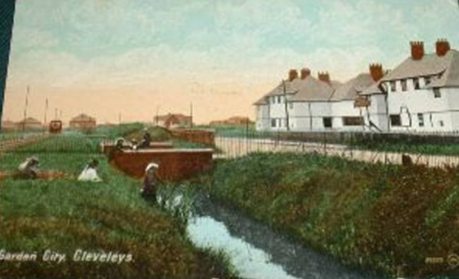 """Garden City at Cleveleys"" showing ramps in place"