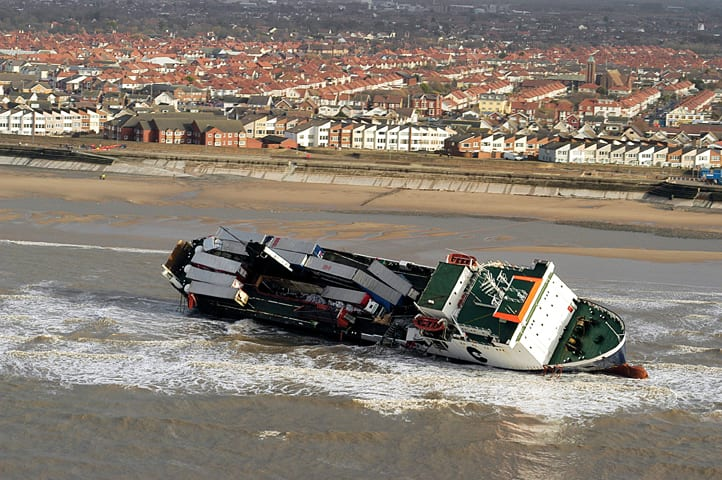 Riverdance Shipwreck, listed on the Shipwreck Memorial on Cleveleys promenade