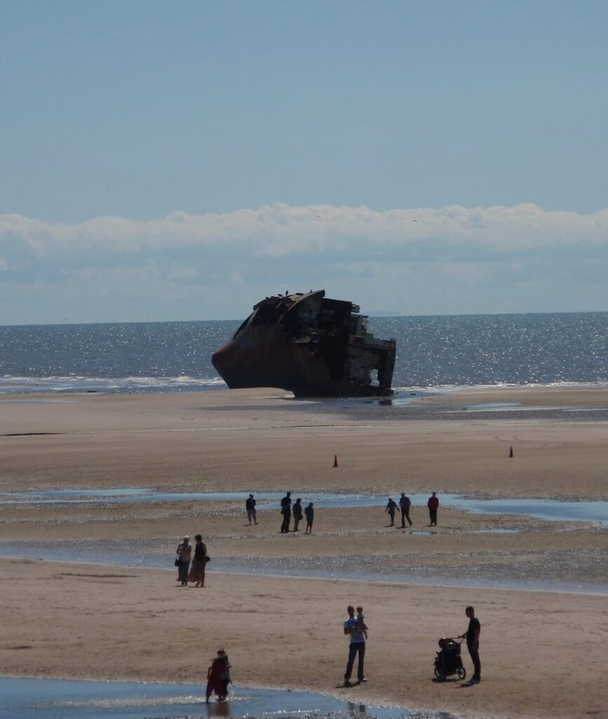 Riverdance Shipwreck on 13 July 2008 - people were still coming to look at it, 6 months later