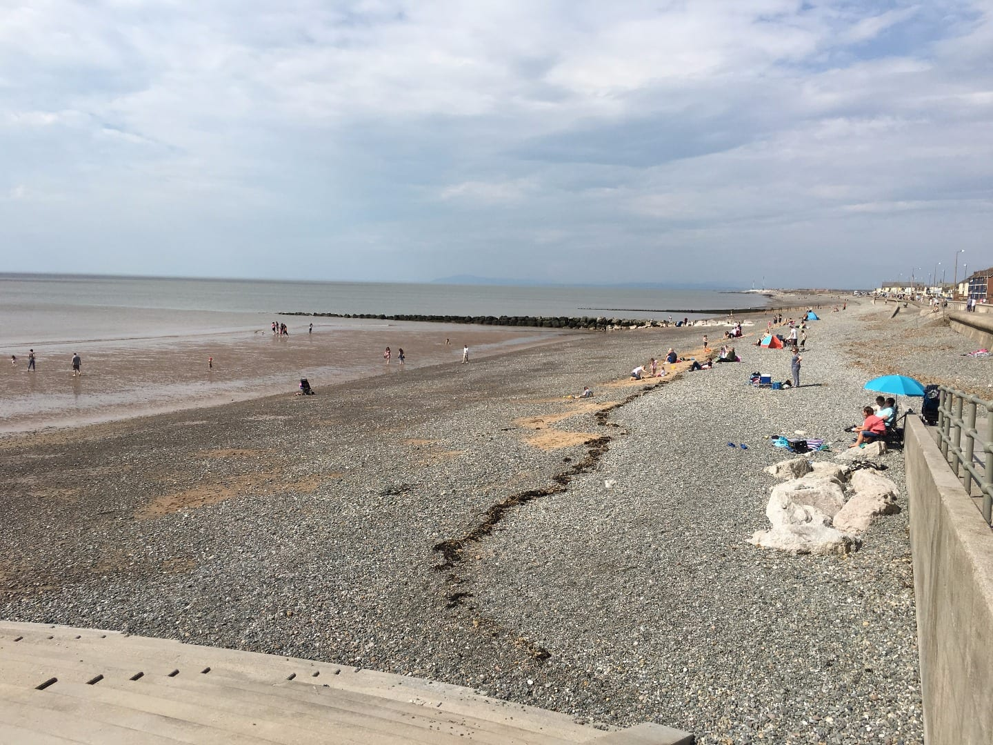 Rossall Beach Cleveleys beyond Cafe Cove