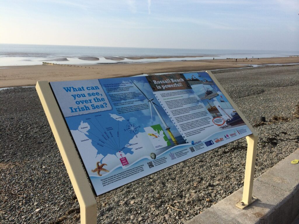 About Walney Offshore Windfarm - Rossall Beach Information Boards