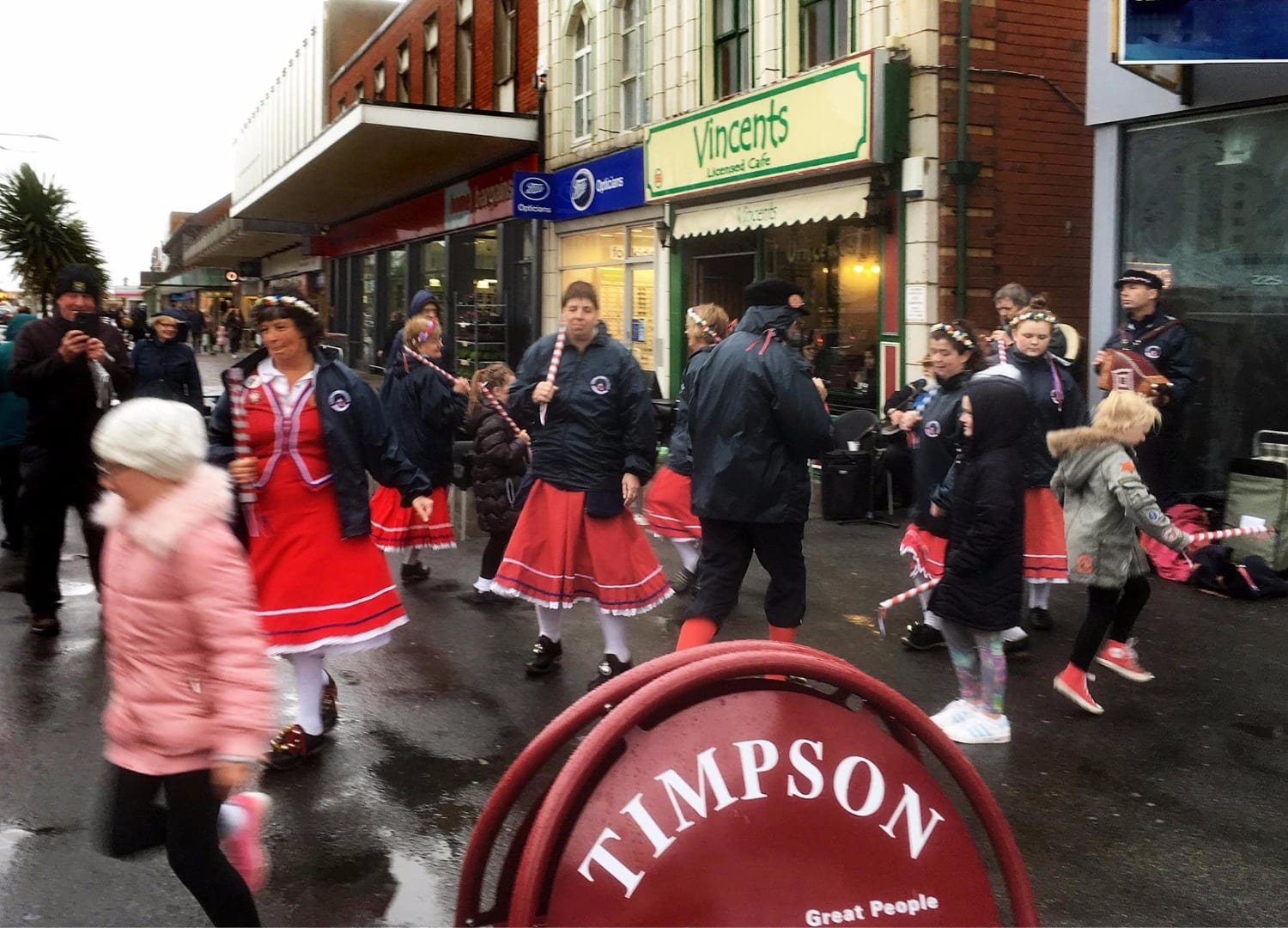 Singleton Cloggers busking in Cleveleys