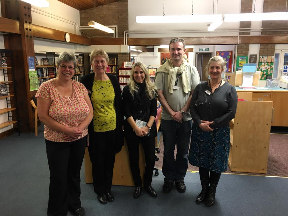 Staff at Cleveleys Library before it closed in 2016