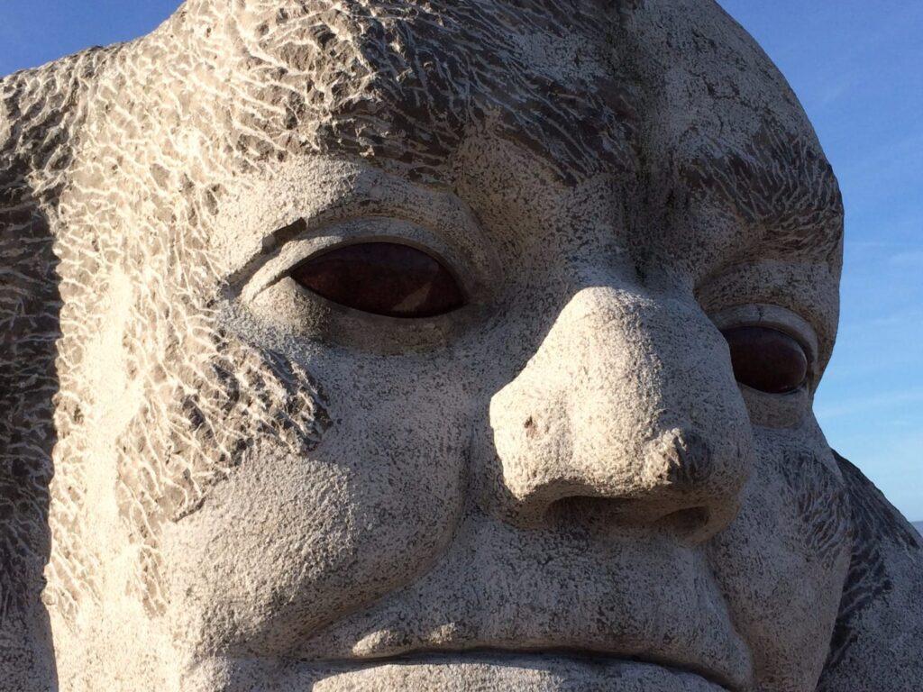 Stone Ogre on Cleveleys beach