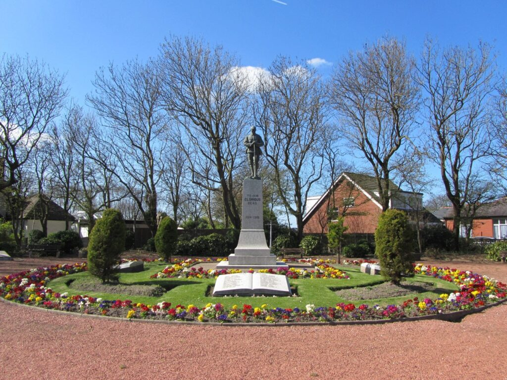 Thornton Cleveleys War Memorial at Four Lane Ends