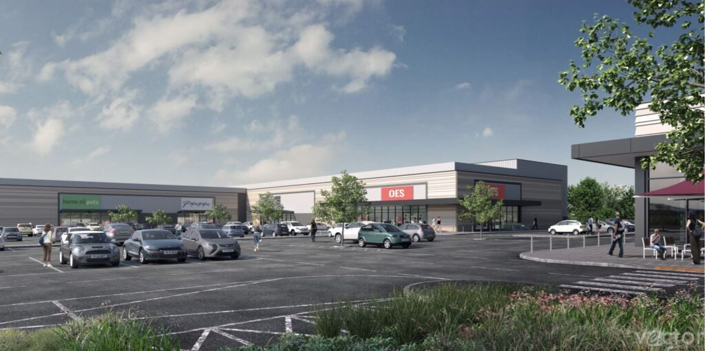 Artists impression of Norcross Retail Site