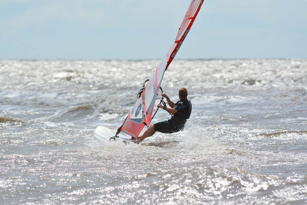 Windsurfing - one of the beach and watersports at Cleveleys
