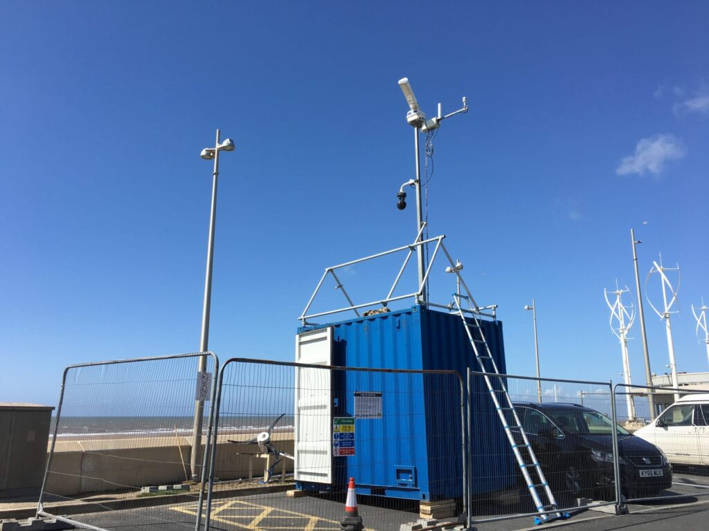 Radar unit being installed on 10.5.18 - News from Cleveleys Coast Watchers