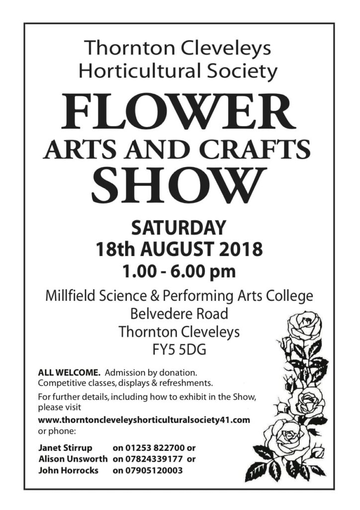 Thornton Cleveleys Horticultural Society Show 2018