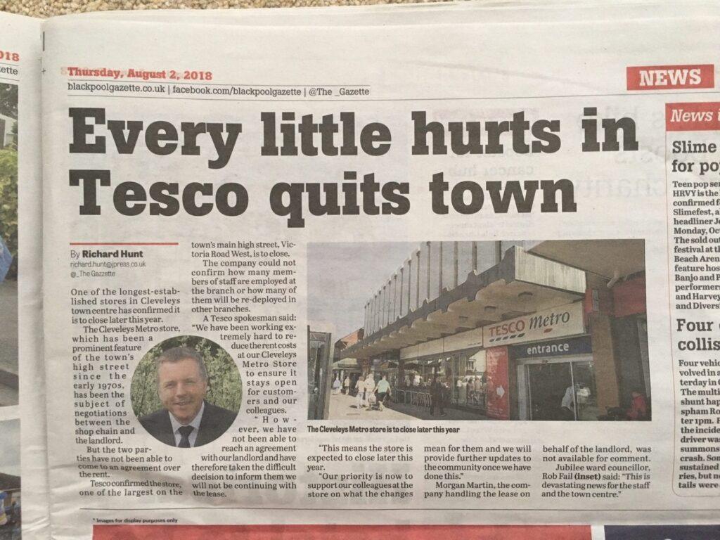 Closure of Cleveleys Tesco