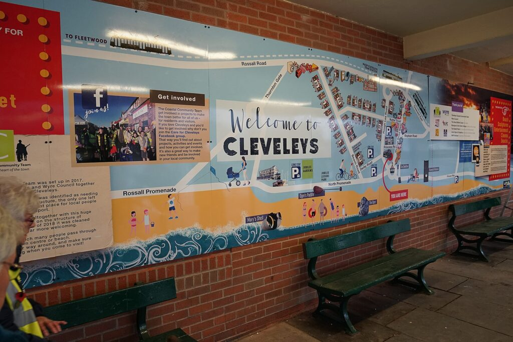 The new 'You are here' map in Cleveleys bus station. Cleveleys Coastal Community Team updates.