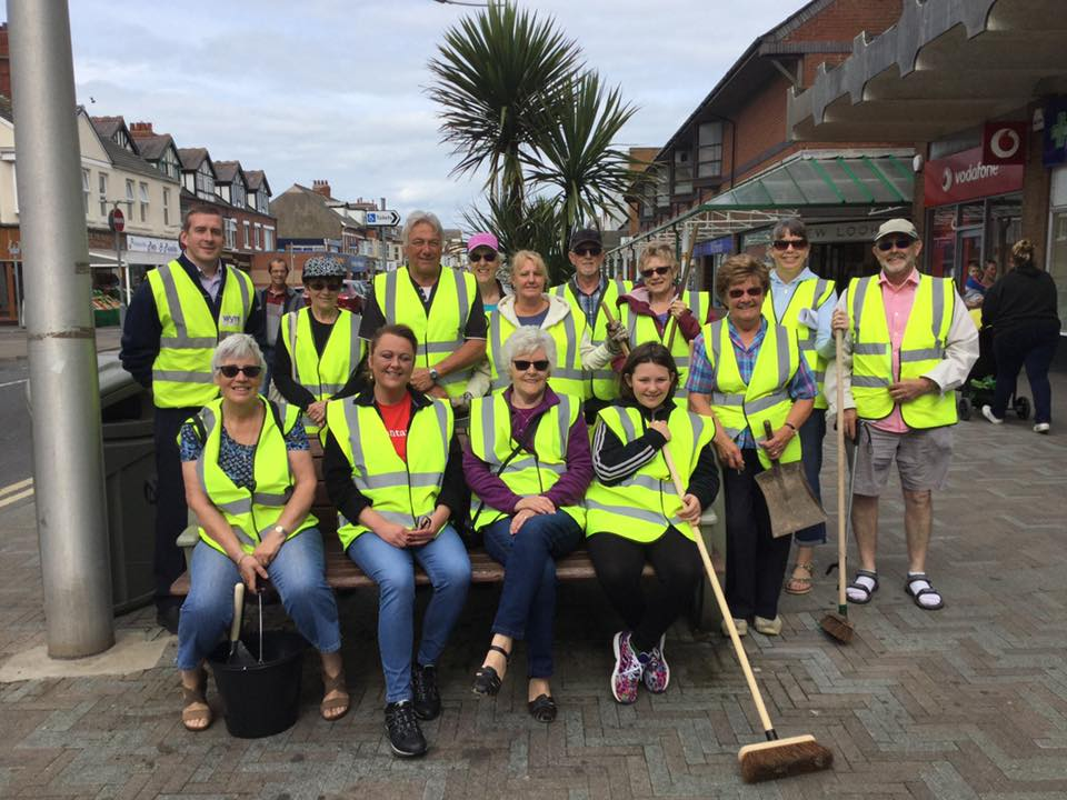 Care for Cleveleys Town Centre Team at the first Clean Sweep event in 2017